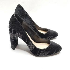 VINCE CAMUTO Danea Sequin Block Heel Pump Size 6
